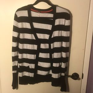 Black and White/Gray Striped Cardigan